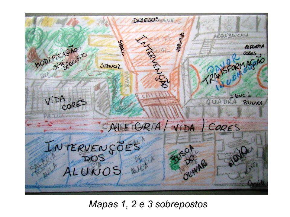 Mapas 1, 2 e 3 sobrepostos