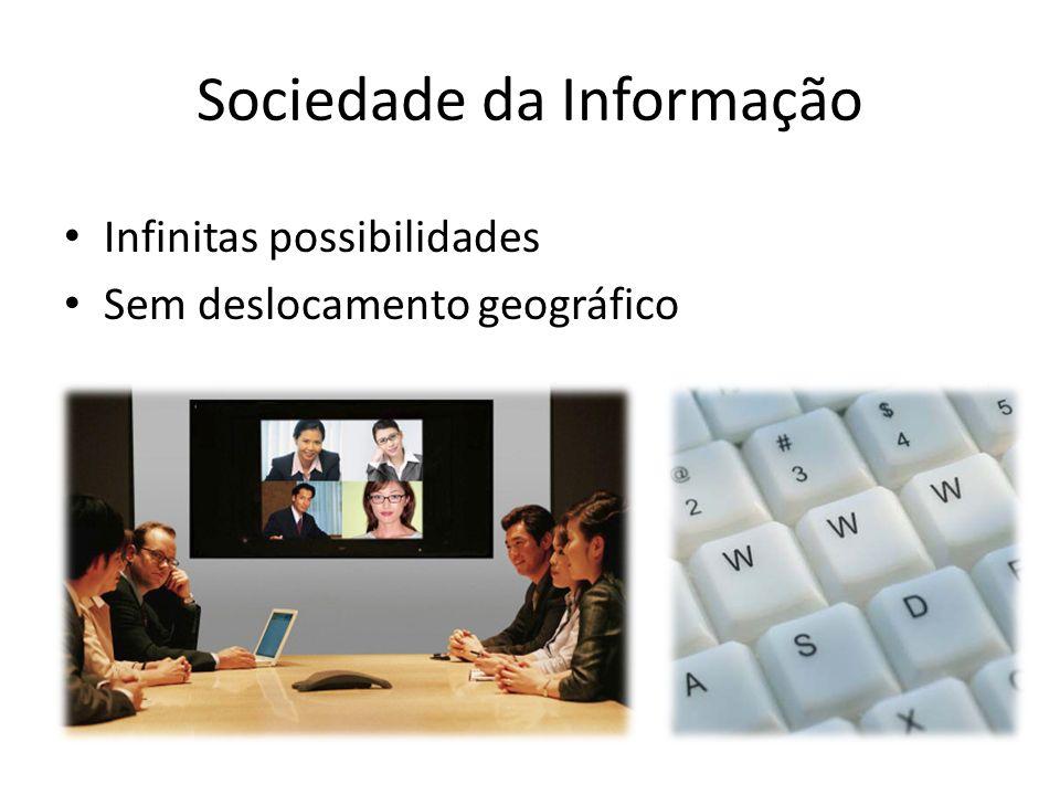 Sociedade da Informação Infinitas possibilidades Sem deslocamento geográfico
