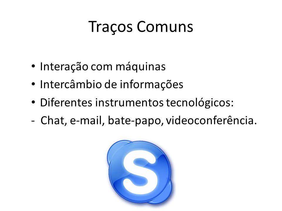 Vantagens Comunicação sem limites Interatividade ilimitada Acesso a textos, imagens, vídeos, etc.