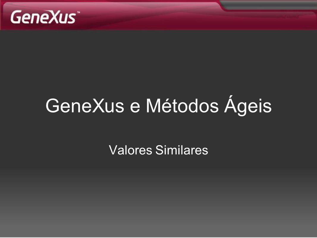 GeneXus e Métodos Ágeis Valores Similares