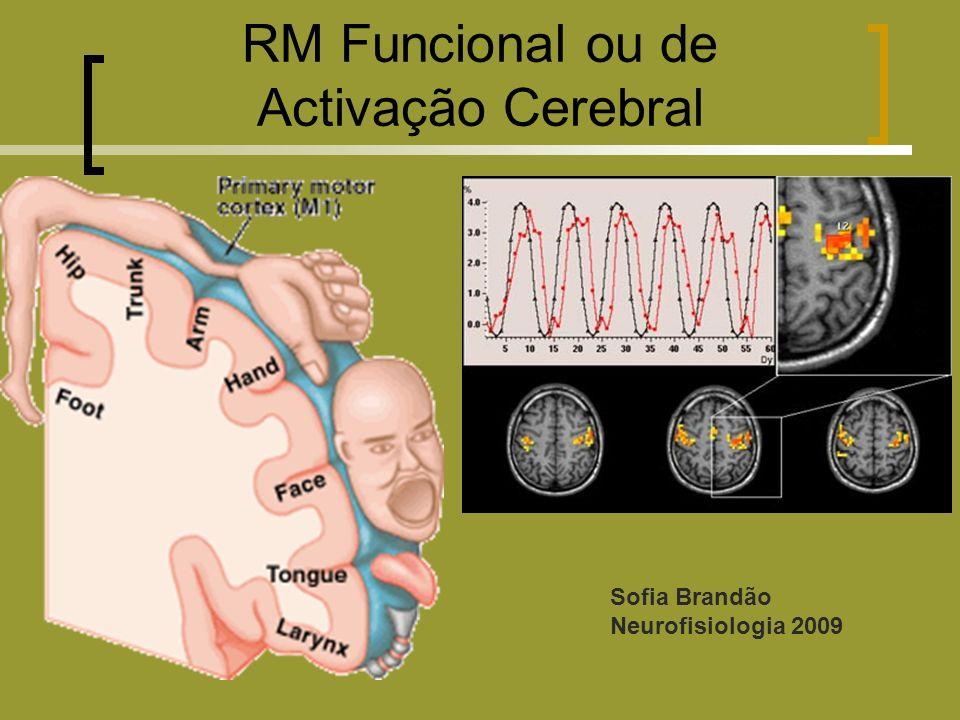 RM Funcional ou de Activação Cerebral Sofia Brandão Neurofisiologia 2009