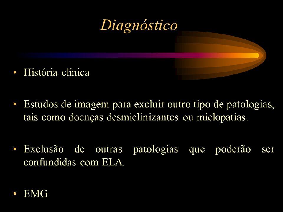 Diagnóstico História clínica Estudos de imagem para excluir outro tipo de patologias, tais como doenças desmielinizantes ou mielopatias. Exclusão de o