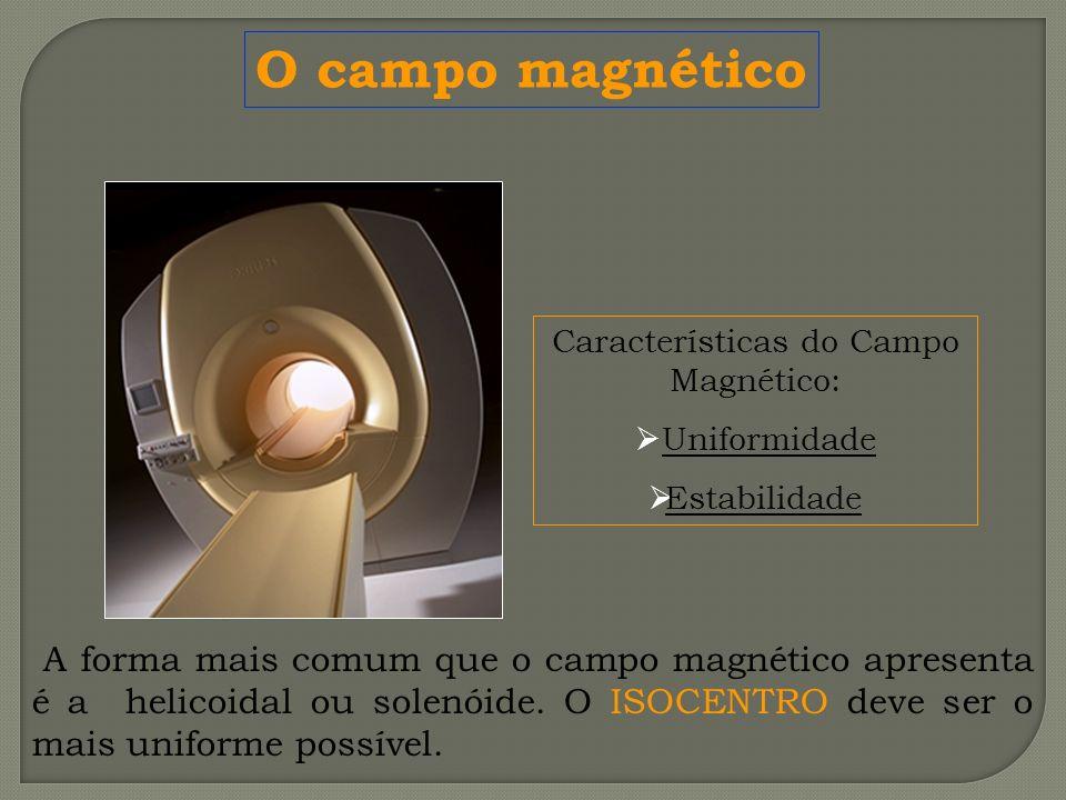 Características do Campo Magnético: Uniformidade Estabilidade O campo magnético A forma mais comum que o campo magnético apresenta é a helicoidal ou s