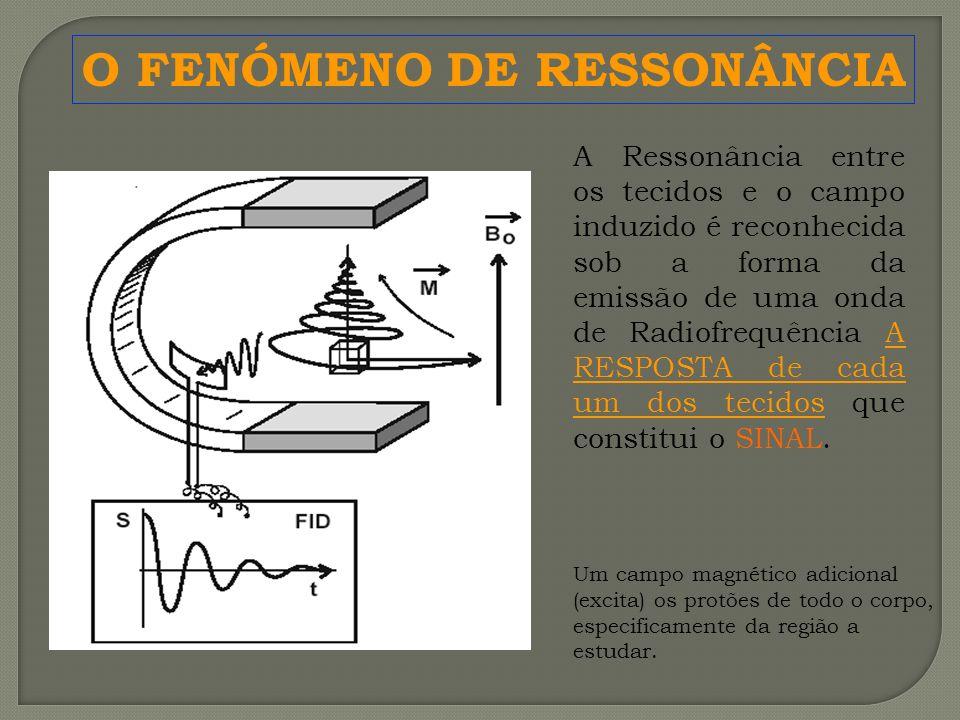 A Ressonância entre os tecidos e o campo induzido é reconhecida sob a forma da emissão de uma onda de Radiofrequência A RESPOSTA de cada um dos tecido