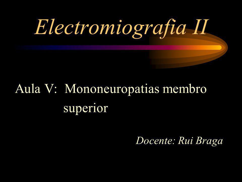Electromiografia II Aula V: Mononeuropatias membro superior Docente: Rui Braga