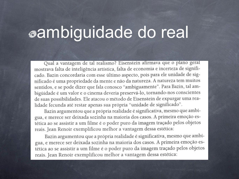 ambiguidade do real
