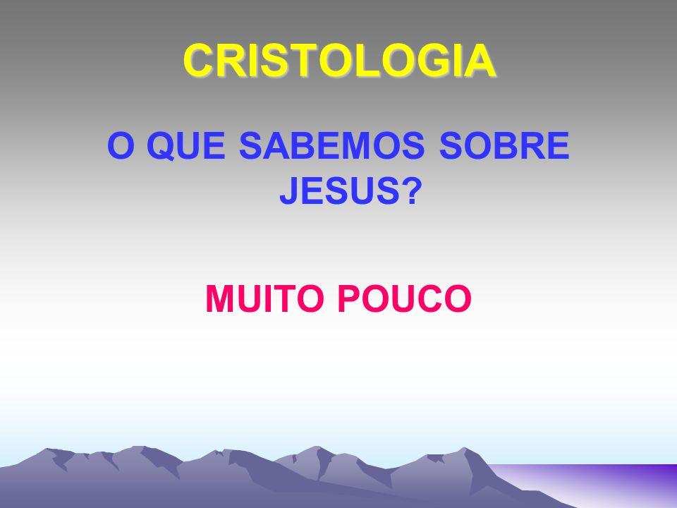 CRISTOLOGIA O QUE SABEMOS SOBRE JESUS? MUITO POUCO