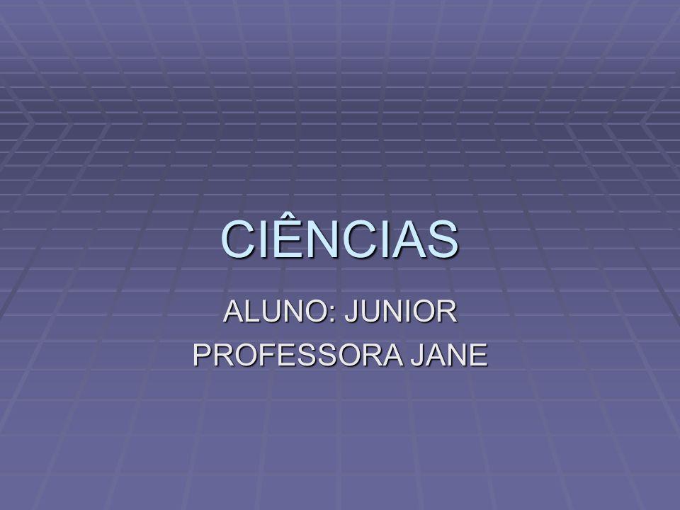 CIÊNCIAS ALUNO: JUNIOR PROFESSORA JANE
