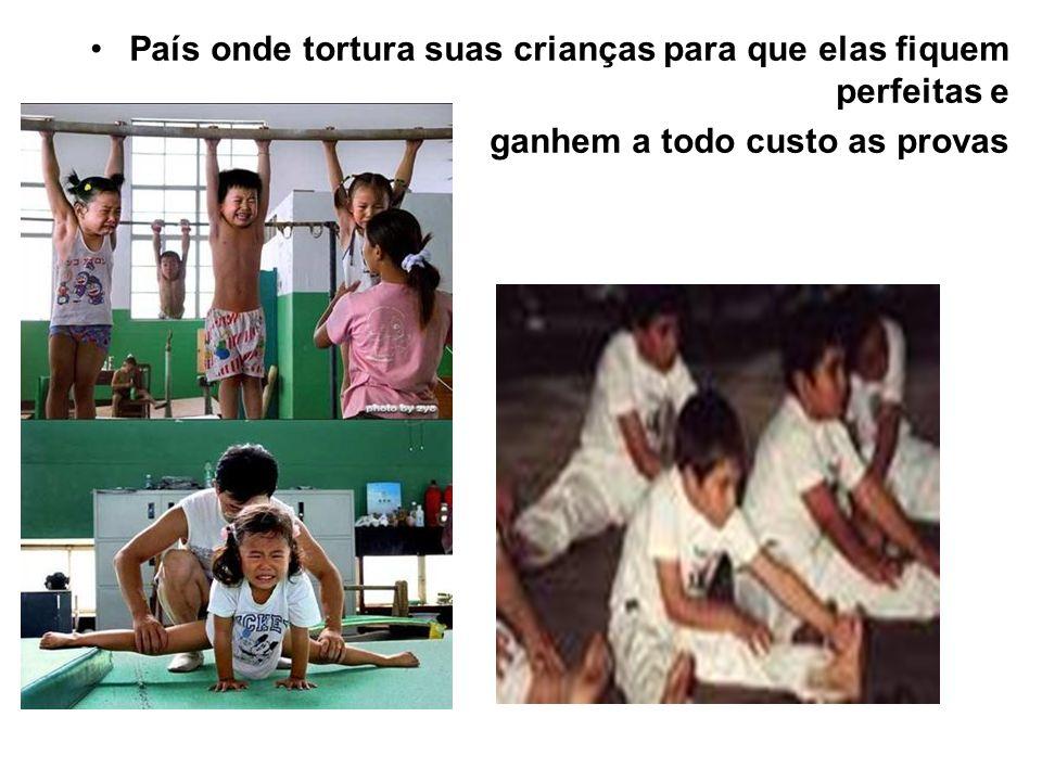 País onde tortura suas crianças para que elas fiquem perfeitas e ganhem a todo custo as provas