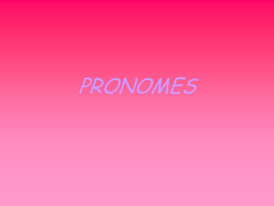 O que é PRONOME.