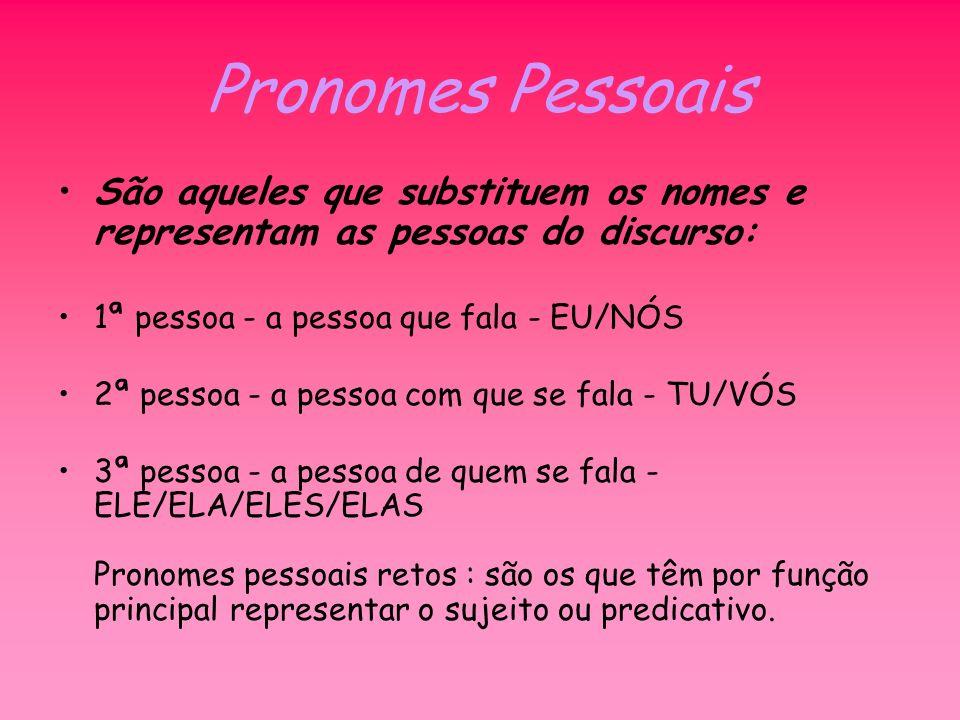 Pronomes oblíquos Associação de pronomes a verbos: Os pronomes oblíquos o, a, os, as, quando associados a verbos terminados em -r, -s, -z, assumem as formas lo, la, los, las, caindo as consoantes.
