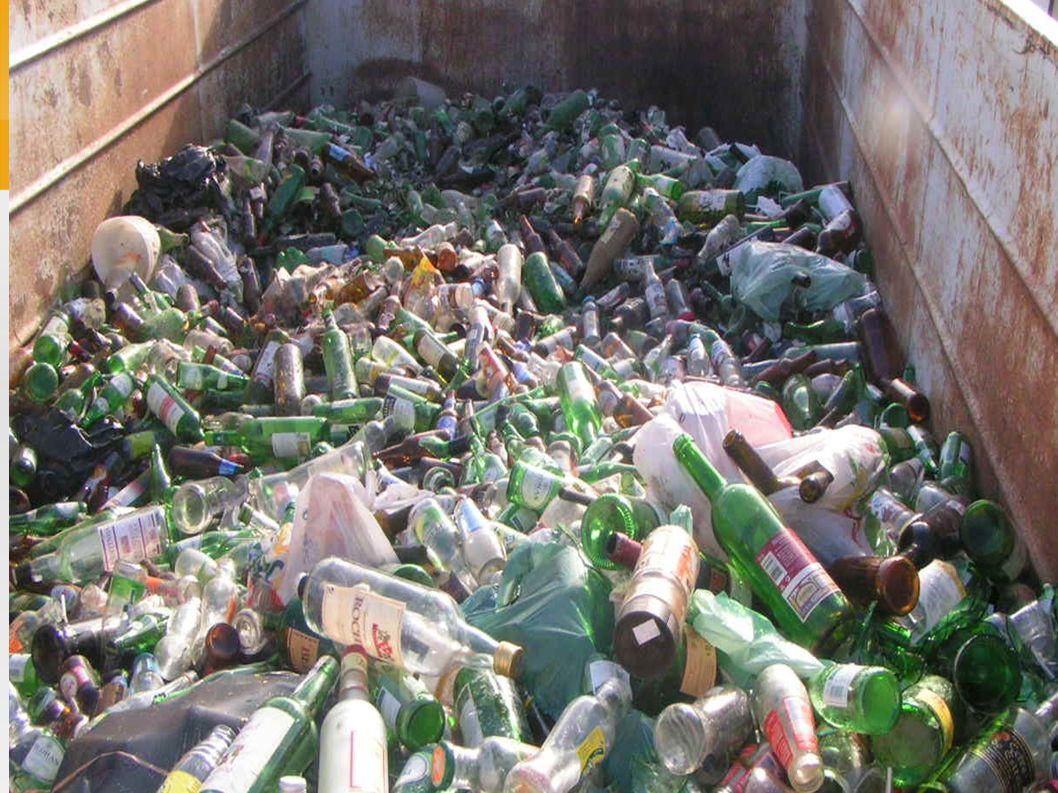 46% das embalagens de vidro são recicladas no Brasil, somando 390 mil ton/ano.