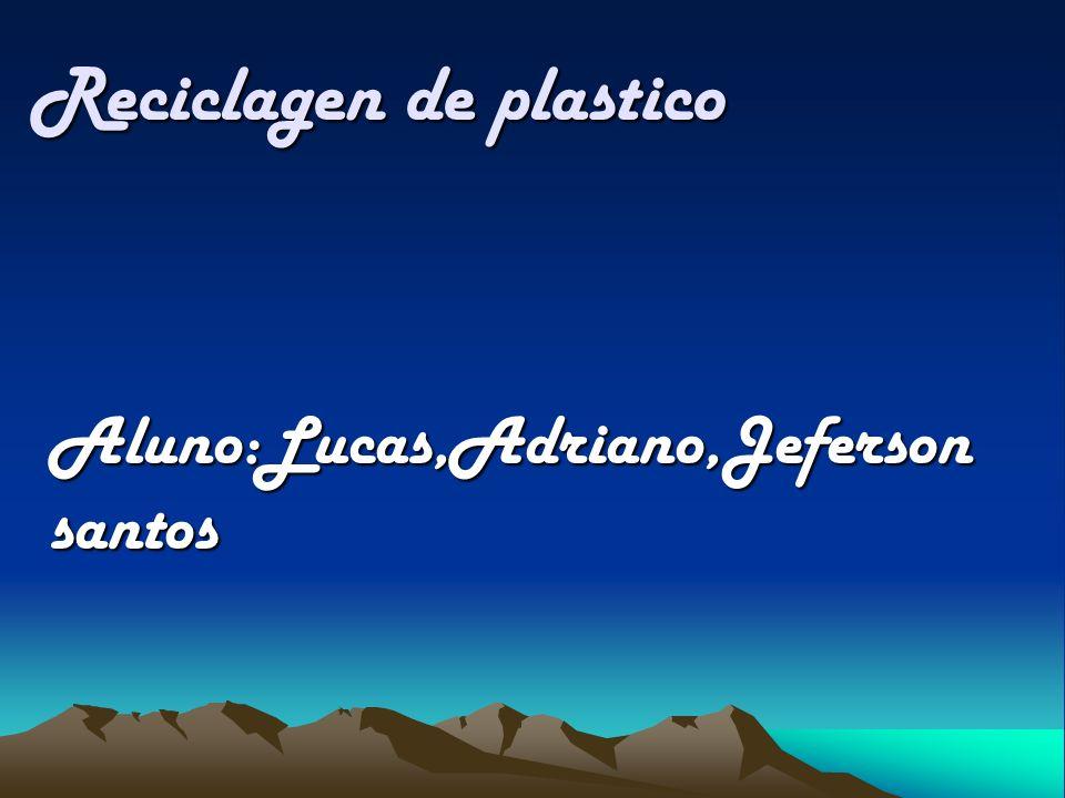 Reciclagen de plastico Reciclagen de plastico Aluno:Lucas,Adriano,Jeferson santos