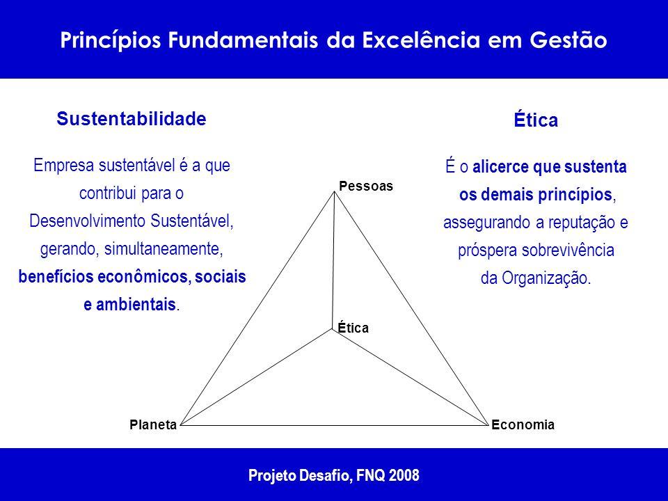 Economia Planeta Ética Pessoas Sustentabilidade Empresa sustentável é a que contribui para o Desenvolvimento Sustentável, gerando, simultaneamente, be