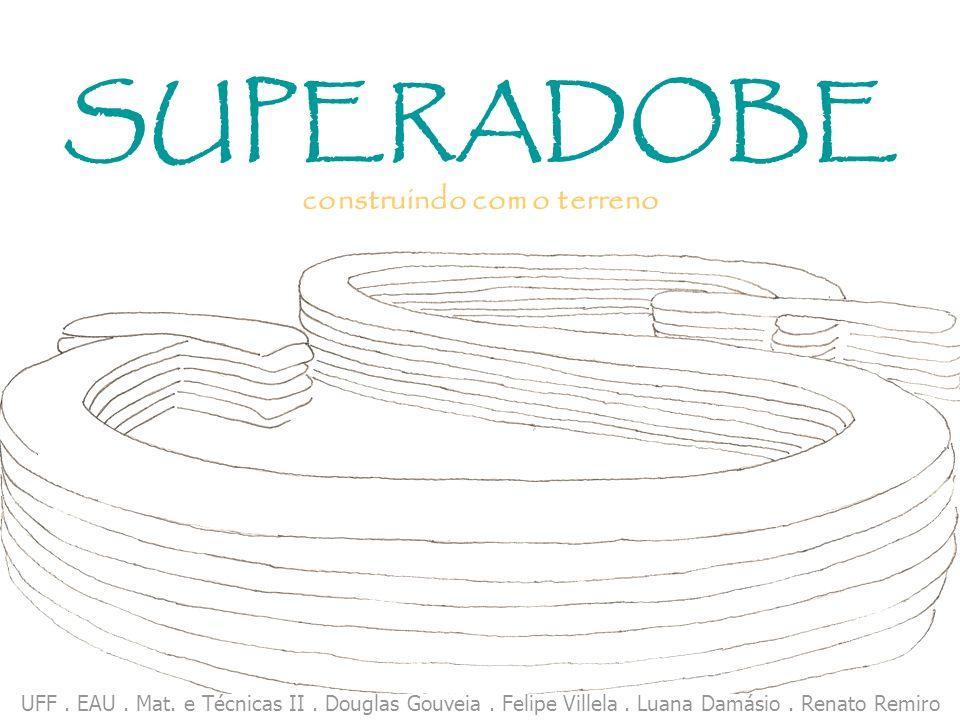 SUPERADOBE construindo com o terreno UFF. EAU. Mat. e Técnicas II. Douglas Gouveia. Felipe Villela. Luana Damásio. Renato Remiro
