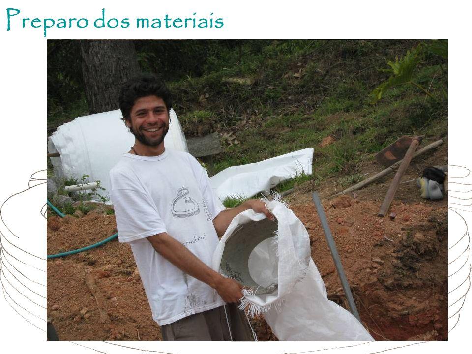 Mistura: 3 carrinhos de areia; 1 saco de cimento Fundação Segunda fiada fundação Impermeabilização da fundação