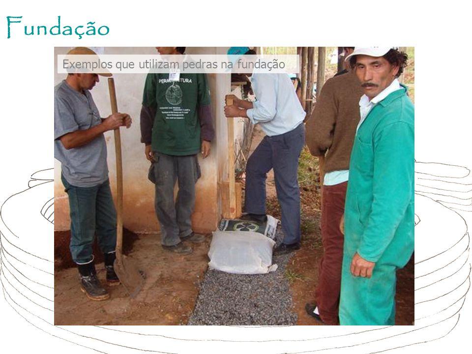 Fundação Exemplos que utilizam pedras na fundação