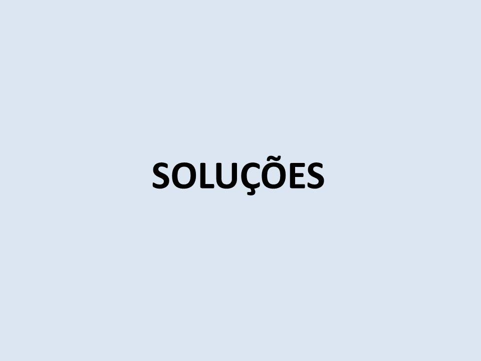Soluções: São misturas homogêneas (1 fase) de duas ou mais substâncias dispersas como moléculas, átomos ou íons.