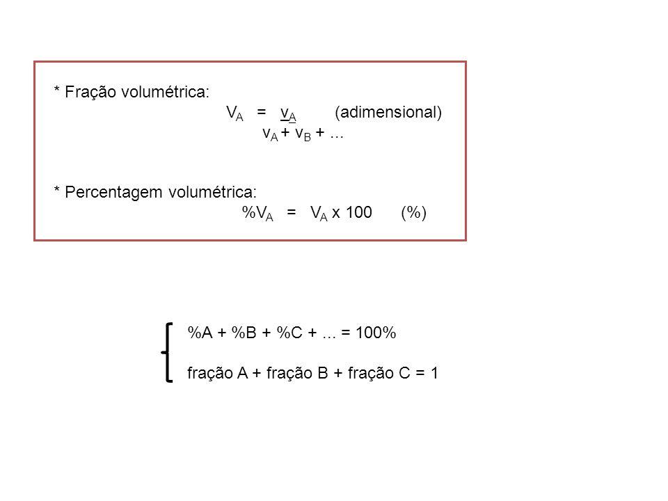 Exercícios: 1.Calcule a molaridade de uma solução que contém 3,65 g de HCl em 2 L de solução.