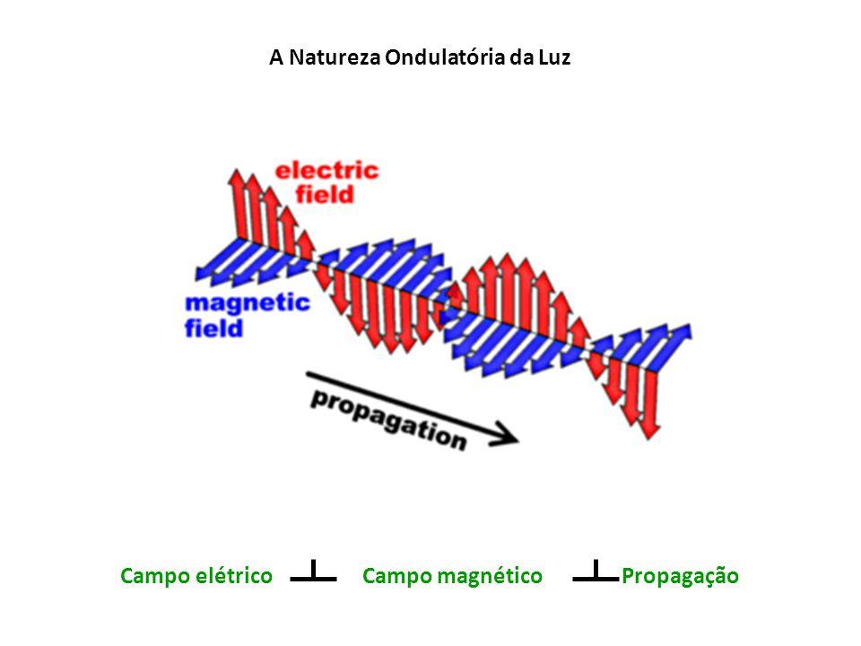 A Natureza Ondulatória da Luz Campo elétrico Campo magnético Propagação