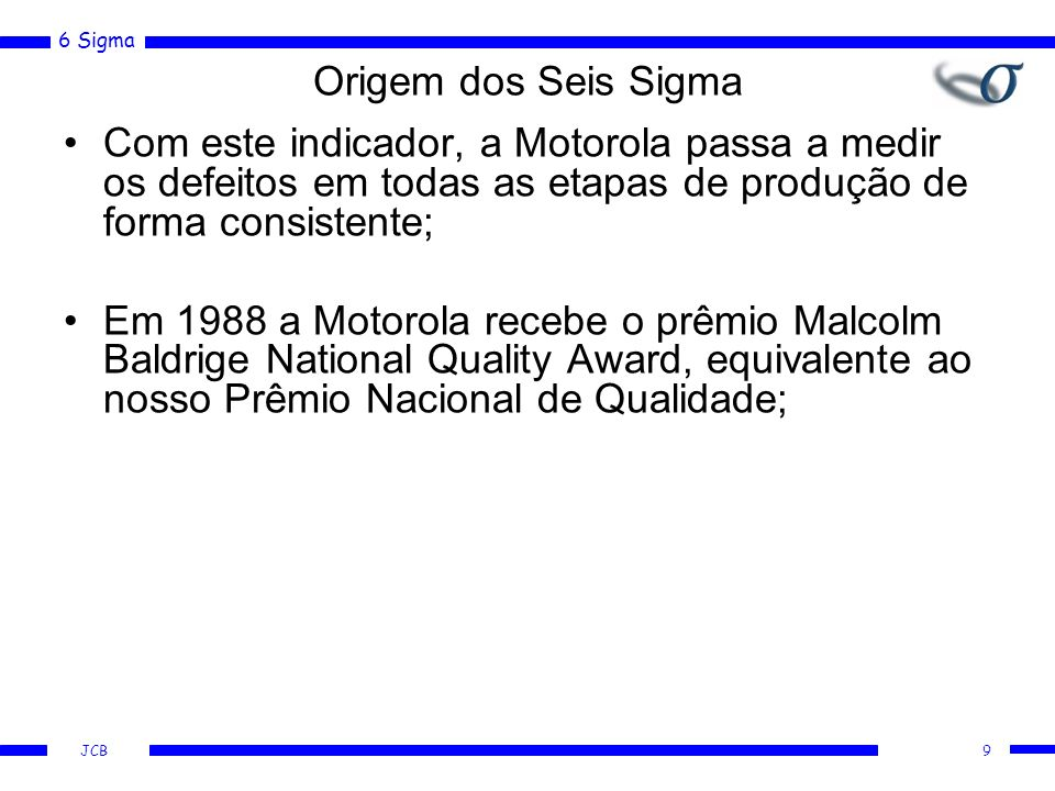 6 Sigma JCB O Método passo-a-passo 30