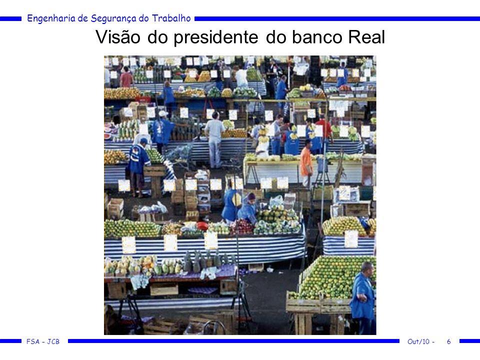 FSA – JCB Engenharia de Segurança do Trabalho Out/10 -6 Visão do presidente do banco Real