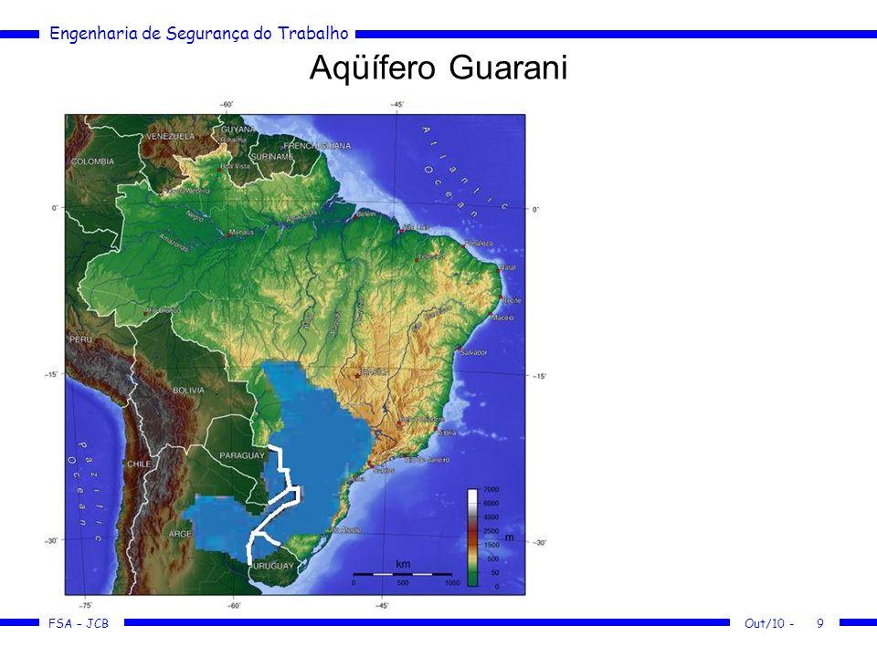 FSA – JCB Engenharia de Segurança do Trabalho Out/10 -9 Aqüífero Guarani