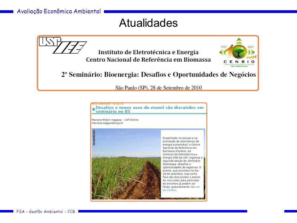 Avaliação Econômica Ambiental FSA – Gestão Ambiental - JCB Atualidades