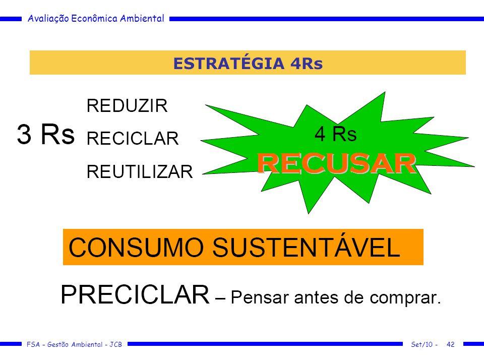 Avaliação Econômica Ambiental FSA – Gestão Ambiental - JCB Set/10 -42