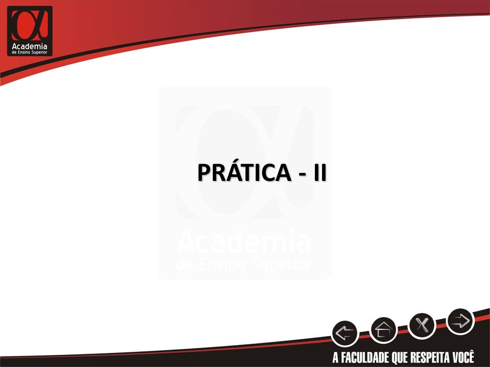 PRÁTICA - II