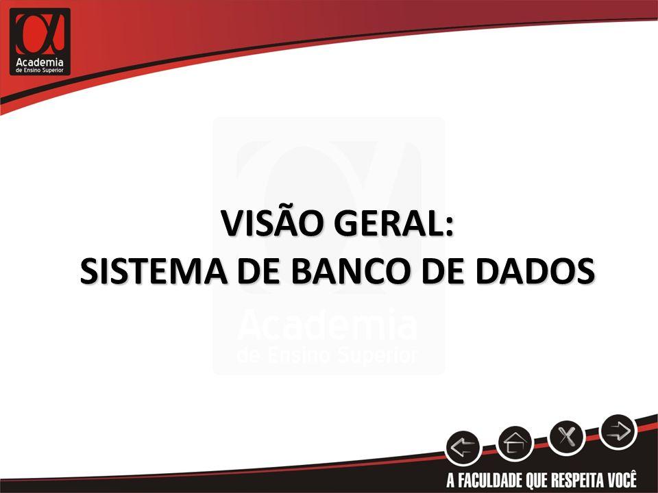 VISÃO GERAL: SISTEMA DE BANCO DE DADOS