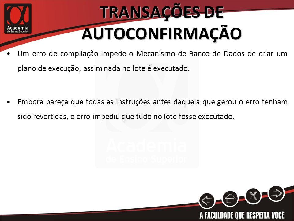 PRÁTICA 1 - TRANSAÇÕES DE AUTOCONFIRMAÇÃO Para ilustrar e demonstrar como o SQL Server trabalha com Transações de AutoConfirmação, vamos realizar a Prática 1.