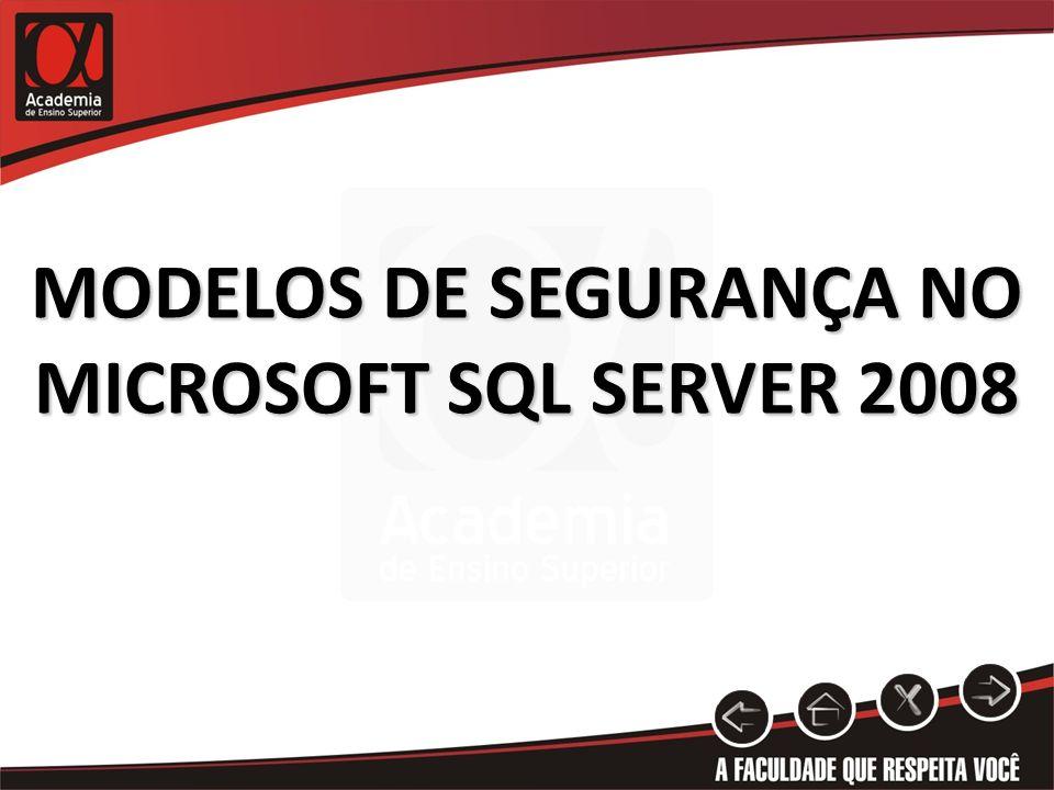 MODELOS DE SEGURANÇA NO MICROSOFT SQL SERVER 2008
