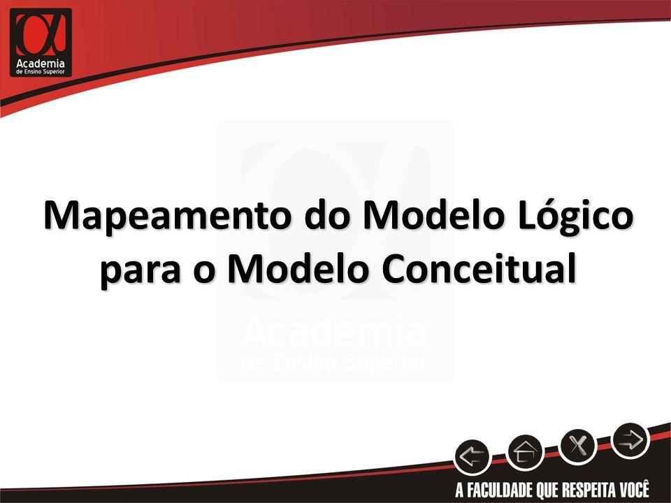 Mapeamento do Modelo Lógico para o Modelo Conceitual