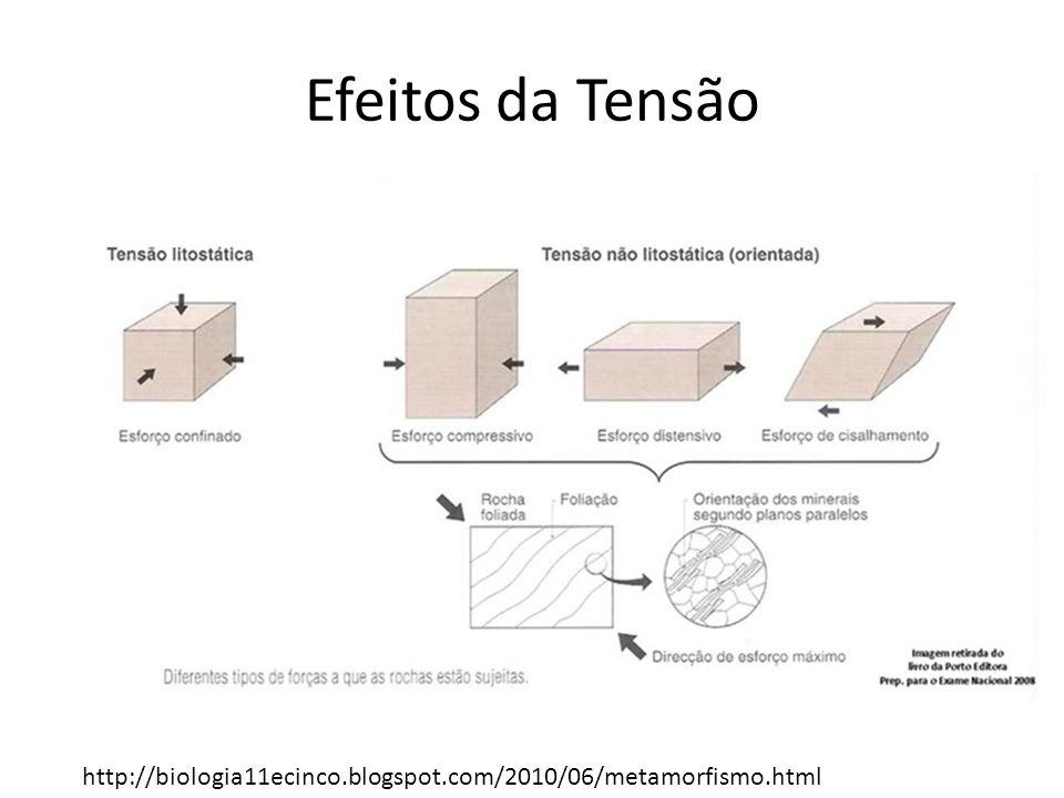 Efeitos da Tensão http://biologia11ecinco.blogspot.com/2010/06/metamorfismo.html