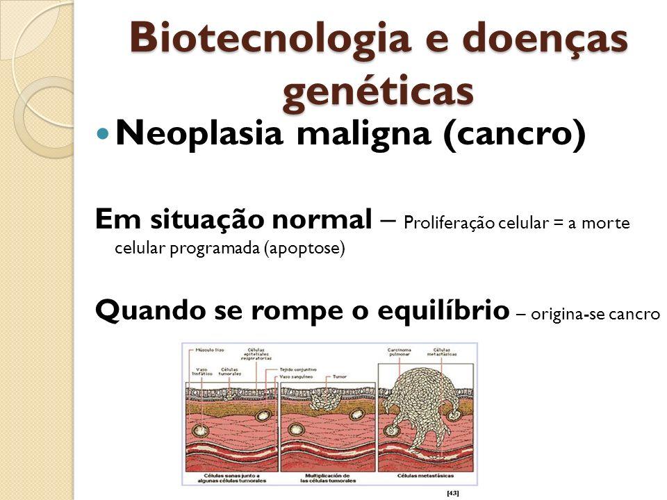 Proliferação celular Alteração da regulação por: - Estimulação da divisão celular -Proto-oncogenes (inativos) por ação de agentes mutagénicos transformam-se em oncogenes - Deficiência do mecanismo que impede a divisão -Genes supressores tumorais (normalmente estão ativos inibindo a divisão celular)