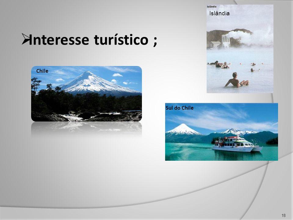 Interesse turístico ; 18 Chile Sul do Chile Islândia
