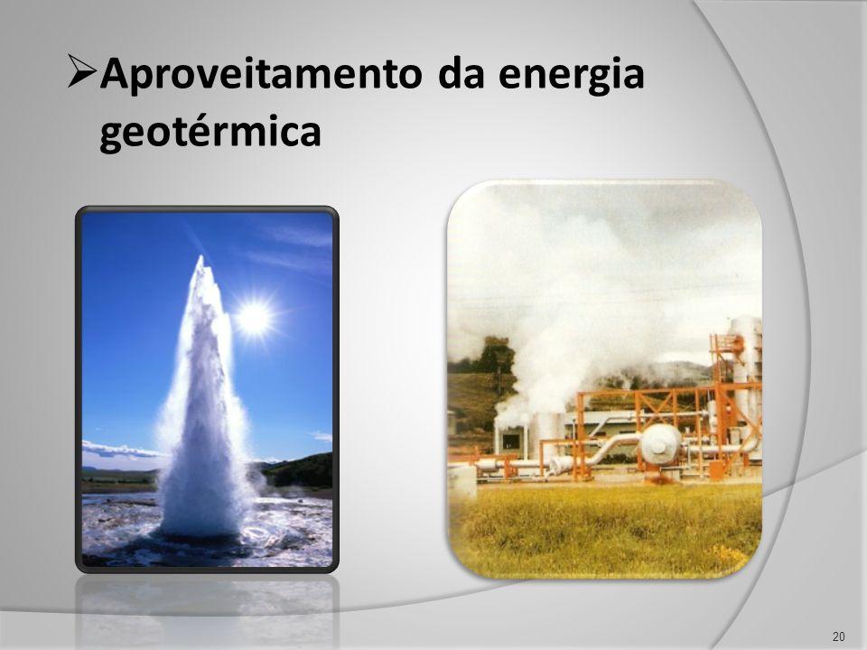 Aproveitamento da energia geotérmica 20