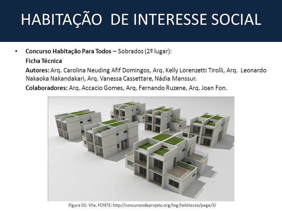 Concurso Habitação Para Todos – Sobrados (2º lugar): Ficha Técnica Autores: Arq.