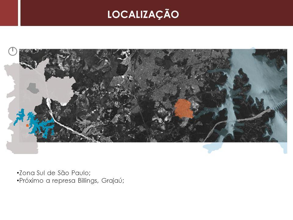 Zona Sul de São Paulo; Próximo a represa Billings, Grajaú; LOCALIZAÇÃO