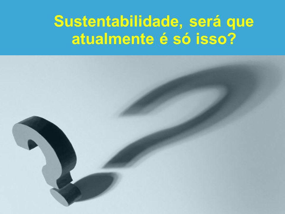 Sustentabilidade, será que atualmente é só isso?