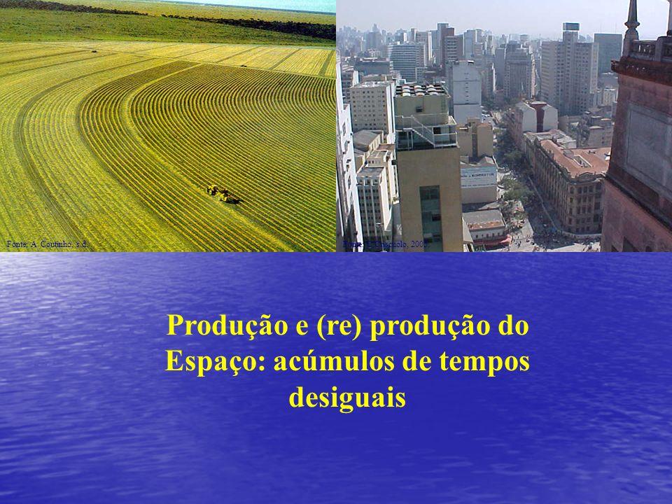 Produção e (re) produção do Espaço: acúmulos de tempos desiguais Fonte: A. Coutinho, s.d.Fonte: C.Criscuolo, 2005.