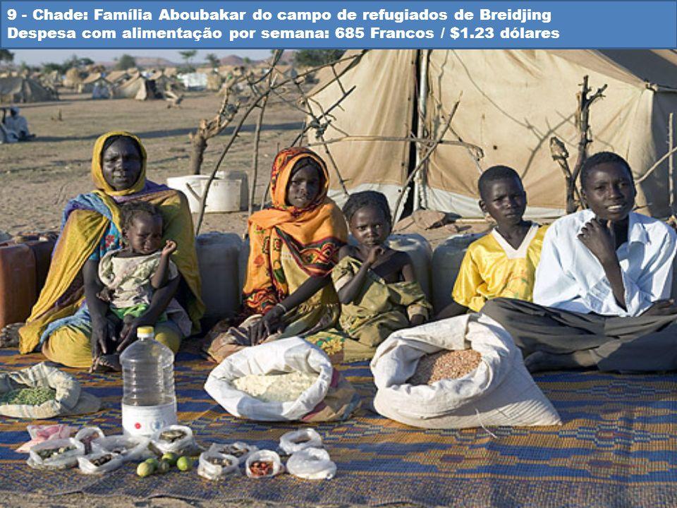 9 - Chade: Família Aboubakar do campo de refugiados de Breidjing Despesa com alimentação por semana: 685 Francos / $1.23 dólares