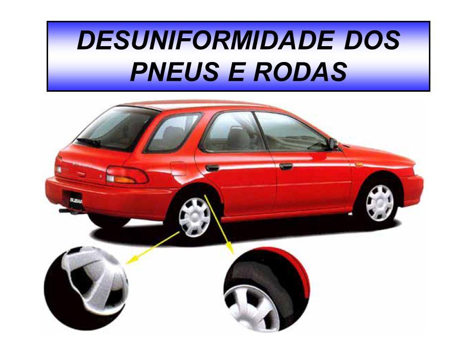 DESUNIFORMIDADE DOS PNEUS E RODAS