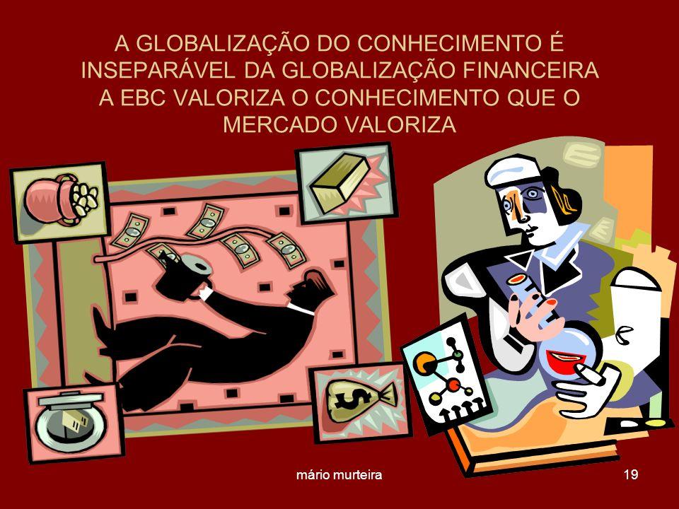 mário murteira19 A GLOBALIZAÇÃO DO CONHECIMENTO É INSEPARÁVEL DA GLOBALIZAÇÃO FINANCEIRA A EBC VALORIZA O CONHECIMENTO QUE O MERCADO VALORIZA