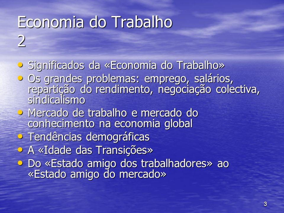 4 Economia do Trabalho 3 A «Revolução Industrial» e a emergência do sindicalismo no séc.