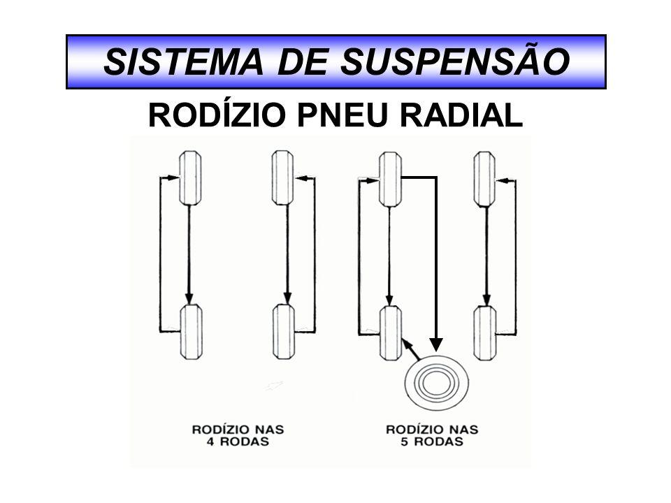 SISTEMA DE SUSPENSÃO RODÍZIO PNEU RADIAL