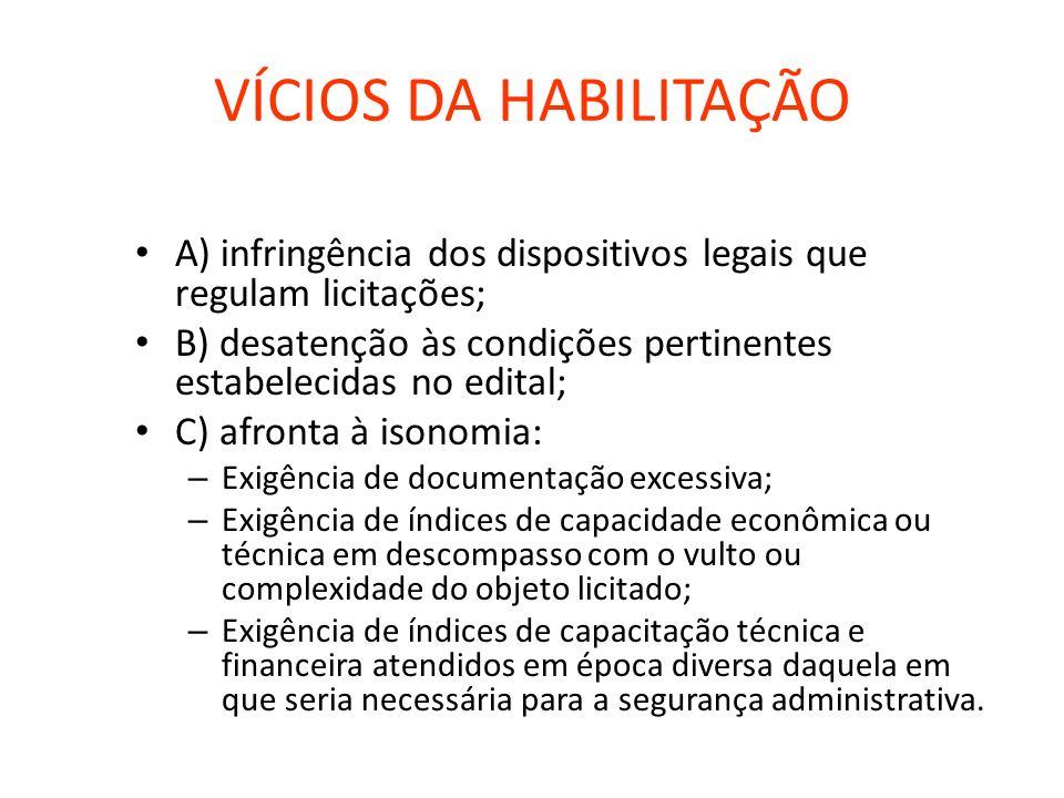 HABILITAÇÃO TÉCNICA A) Registro ou inscrição na entidade profissional competente; B) Comprovação de aptidão para desempenho de atividade pertinente e