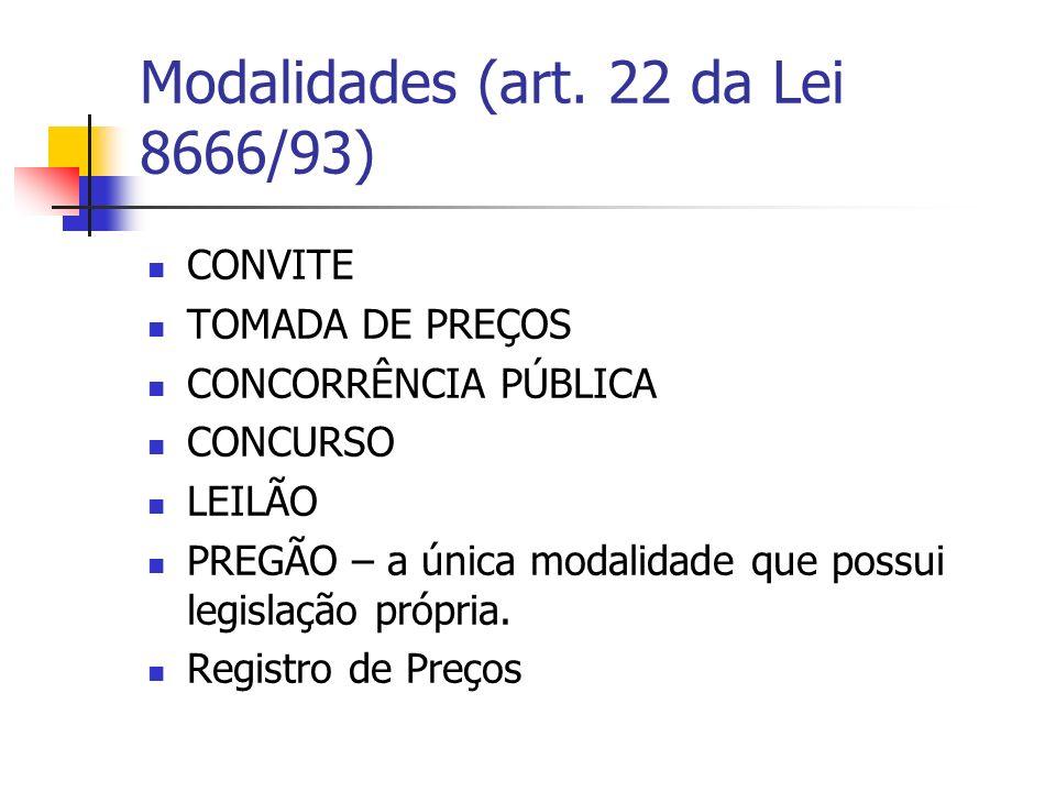 Exceções à obrigatoriedade de licitar Dispensa de Licitação (art.