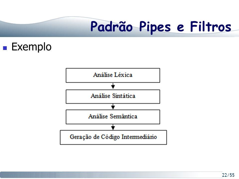 22/55 Padrão Pipes e Filtros Exemplo